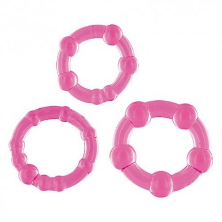 Set 3 inele penis roz