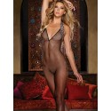 Bodystocking Mesh Backless